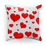 Heart Love Pattern Cushion Faux Suede / 18X18 Homeware