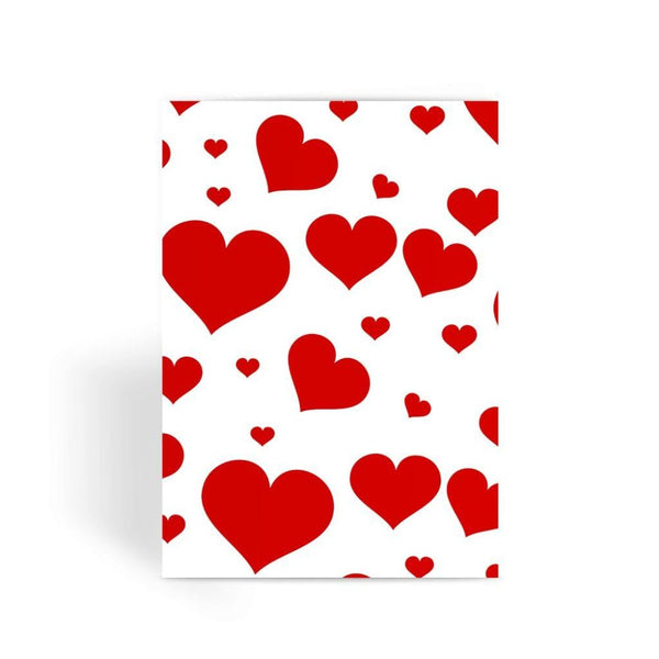 Heart Love Pattern Greeting Card 1 Prints