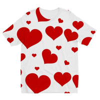 Heart Love Pattern Kids Sublimation T-Shirt 3-4 Years Apparel