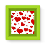 Heart Love Pattern Magnet Frame Green Homeware