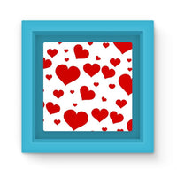 Heart Love Pattern Magnet Frame Light Blue Homeware