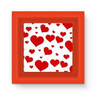 Heart Love Pattern Magnet Frame Red Homeware