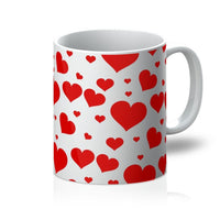 Heart Love Pattern Mug 11Oz Homeware