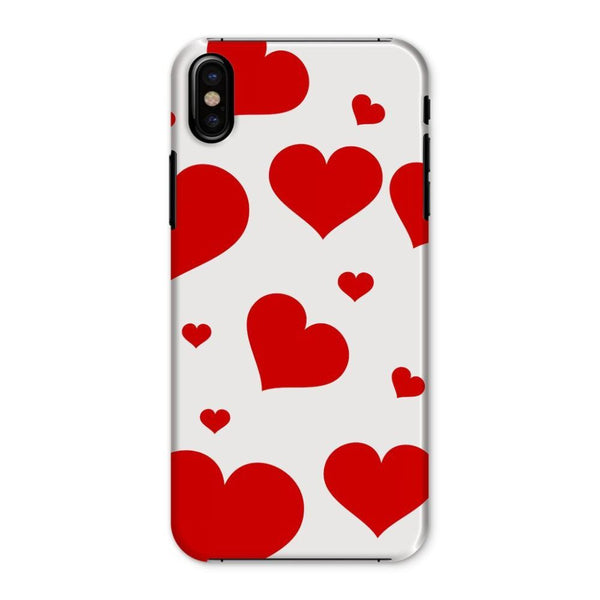 Heart Love Pattern Phone Case Iphone X / Snap Gloss & Tablet Cases