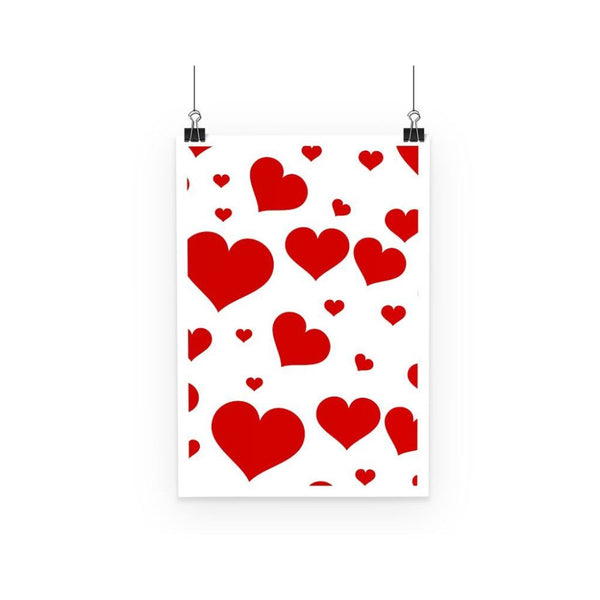 Heart Love Pattern Poster A3 Wall Decor