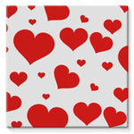 Heart Love Pattern Stretched Canvas 10X10 Wall Decor