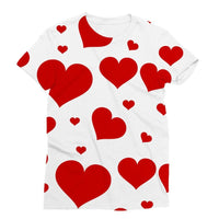 Heart Love Pattern Sublimation T-Shirt S Apparel