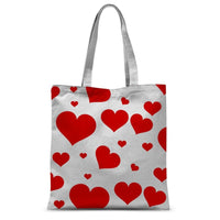 Heart Love Pattern Sublimation Tote Bag 15X16.5 Accessories