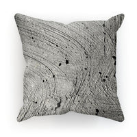 Holes In The Cement Surface Cushion Faux Suede / 18X18 Homeware