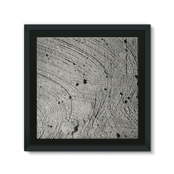 Holes In The Cement Surface Framed Canvas 12X12 Wall Decor
