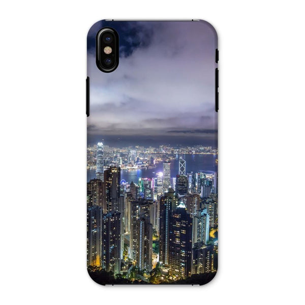 Hong Kong City Dark Night Phone Case Iphone X / Snap Gloss & Tablet Cases