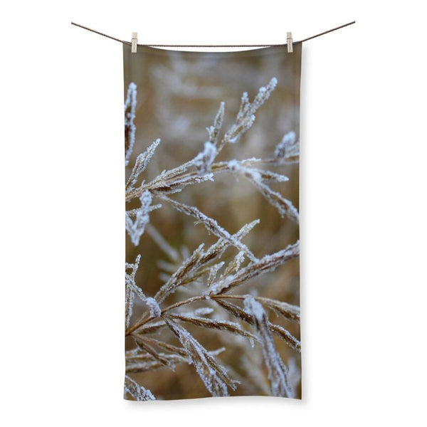 Ice Frozen On Plant Branches Beach Towel 19.7X39.4 Homeware