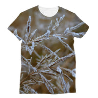 Ice Frozen On Plant Branches Sublimation T-Shirt S Apparel