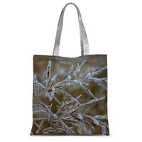 Ice Frozen On Plant Branches Sublimation Tote Bag 15X16.5 Accessories
