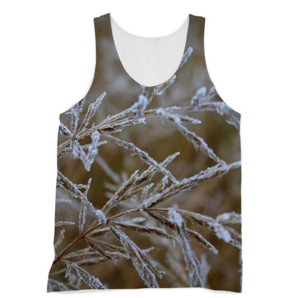Ice Frozen On Plant Branches Sublimation Vest Xs Apparel