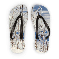 Ice Frozen On Plants Flip Flops S Accessories