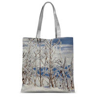 Ice Frozen On Plants Sublimation Tote Bag 15X16.5 Accessories