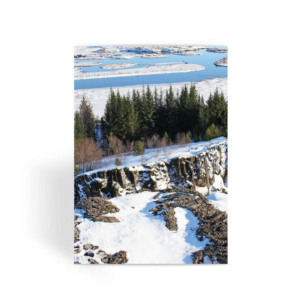 Ice Frozen On Rocky Mountain Greeting Card 1 Prints