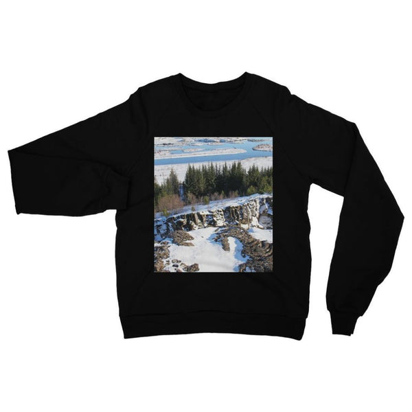 Ice Frozen On Rocky Mountain Heavy Blend Crew Neck Sweatshirt S / Black Apparel