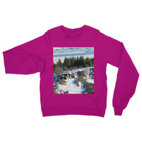Ice Frozen On Rocky Mountain Heavy Blend Crew Neck Sweatshirt S / Heliconia Apparel