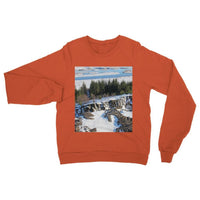 Ice Frozen On Rocky Mountain Heavy Blend Crew Neck Sweatshirt S / Orange Apparel
