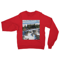 Ice Frozen On Rocky Mountain Heavy Blend Crew Neck Sweatshirt S / Red Apparel