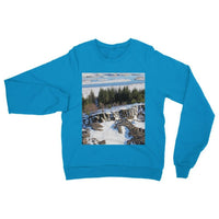 Ice Frozen On Rocky Mountain Heavy Blend Crew Neck Sweatshirt S / Sapphire Apparel