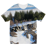 Ice Frozen On Rocky Mountain Kids Sublimation T-Shirt 3-4 Years Apparel