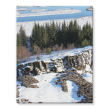 Ice Frozen On Rocky Mountain Stretched Eco-Canvas 11X14 Wall Decor