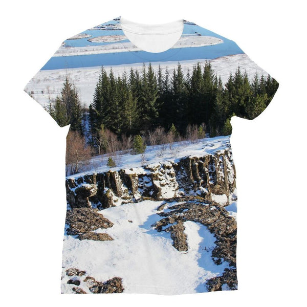 Ice Frozen On Rocky Mountain Sublimation T-Shirt S Apparel