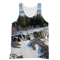 Ice Frozen On Rocky Mountain Sublimation Vest Xs Apparel