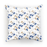 Ink Drops Colorful Pattern Cushion Faux Suede / 12X12 Homeware