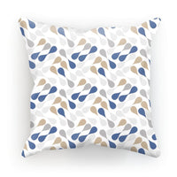 Ink Drops Colorful Pattern Cushion Faux Suede / 18X18 Homeware