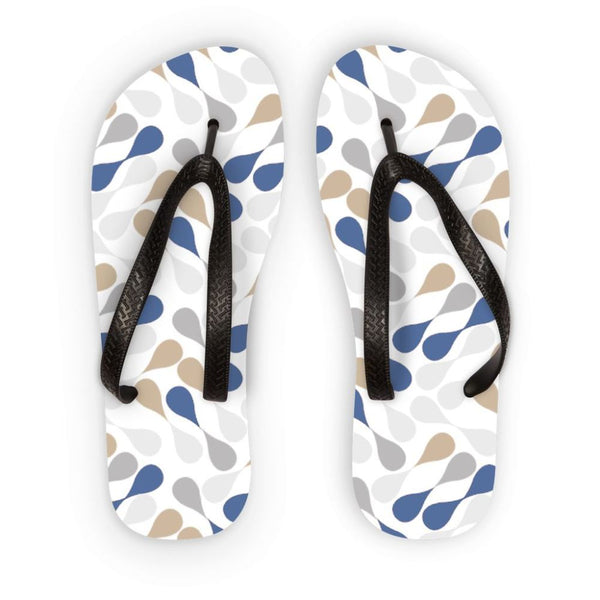 Ink Drops Colorful Pattern Flip Flops S Accessories