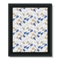 Ink Drops Colorful Pattern Framed Eco-Canvas 11X14 Wall Decor