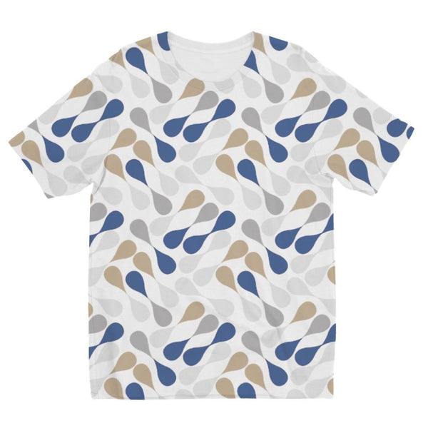 Ink Drops Colorful Pattern Kids Sublimation T-Shirt 3-4 Years Apparel