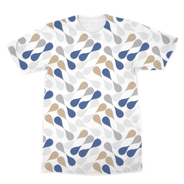 Ink Drops Colorful Pattern Sublimation T-Shirt Xs Apparel