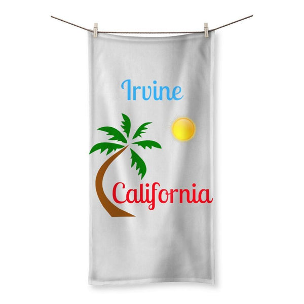 Irvine California Palm Sun Beach Towel 19.7X39.4 Homeware