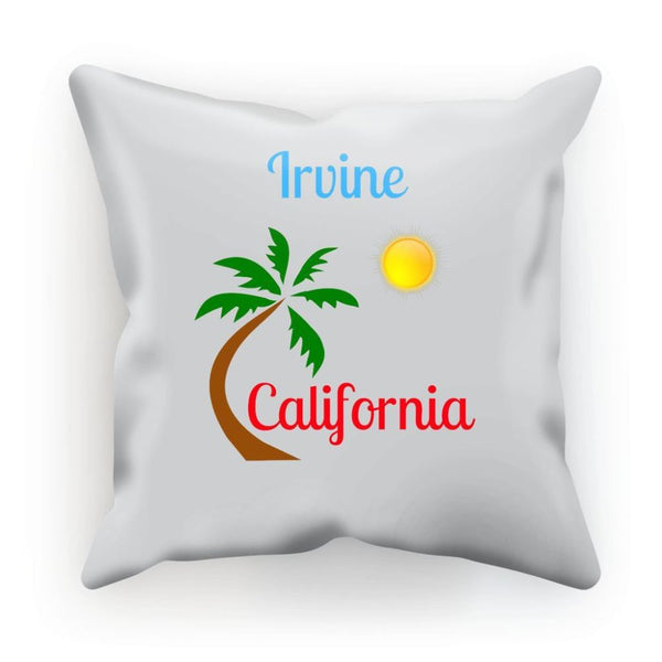 Irvine California Palm Sun Cushion Linen / 12X12 Homeware