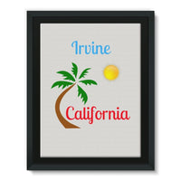 Irvine California Palm Sun Framed Eco-Canvas 18X24 Wall Decor