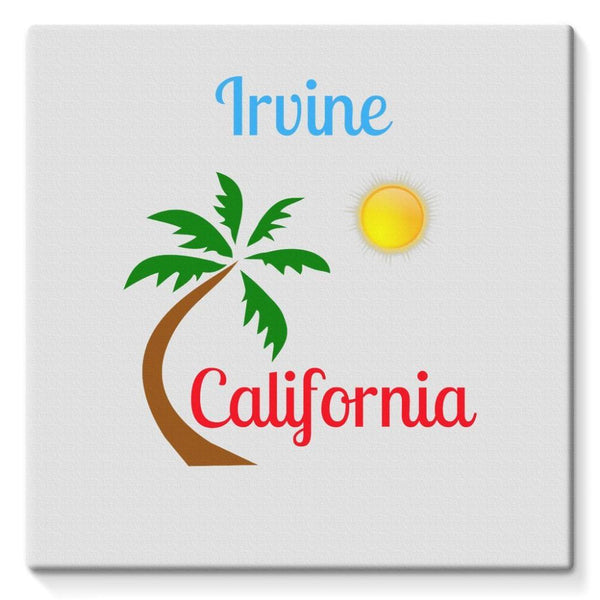 Irvine California Palm Sun Stretched Eco-Canvas 10X10 Wall Decor