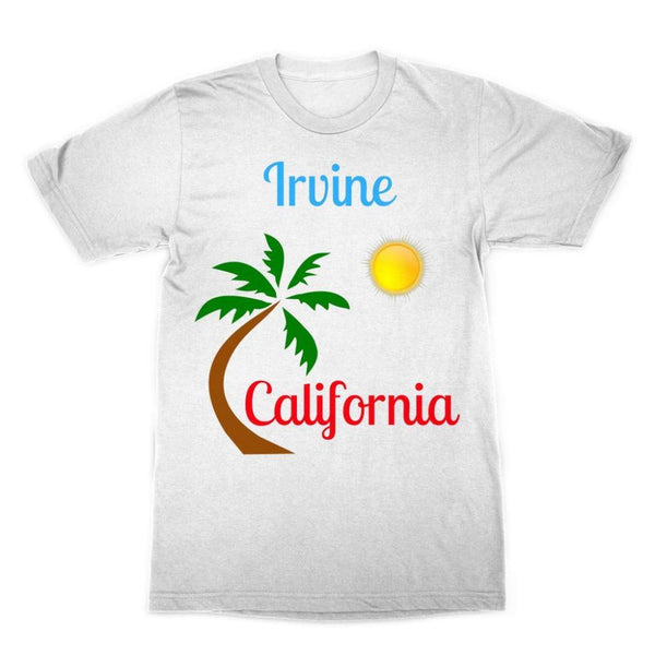 Irvine California Palm Sun Sublimation T-Shirt Xs Apparel