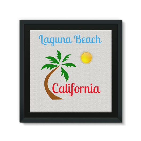 Laguna Beach California Framed Canvas 12X12 Wall Decor