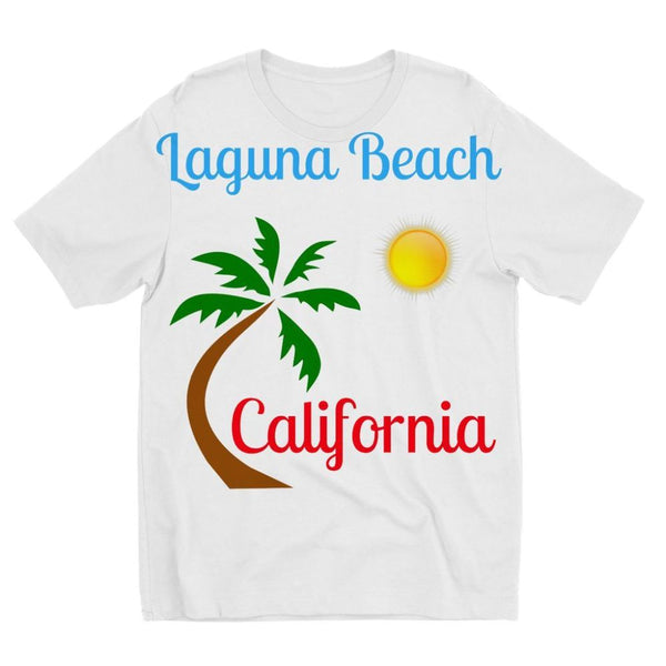 Laguna Beach California Kids Sublimation T-Shirt 3-4 Years Apparel