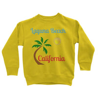 Laguna Beach California Kids Sweatshirt 3-4 Years / Sun Yellow Apparel