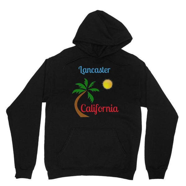 Lancaster California Heavy Blend Hooded Sweatshirt Xs / Black Apparel