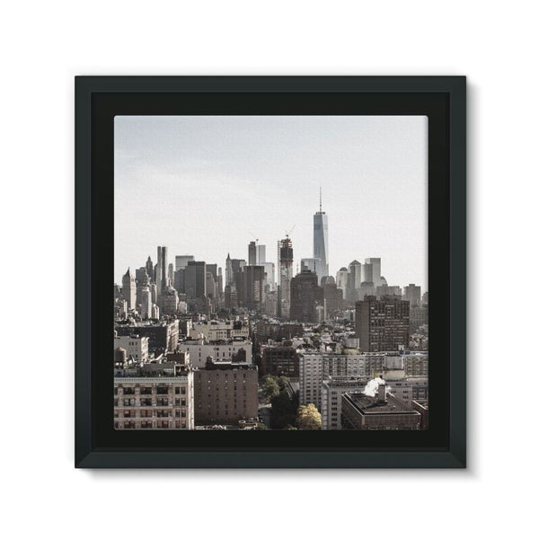 Landscape Of New York City Framed Canvas 12X12 Wall Decor