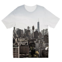 Landscape Of New York City Kids Sublimation T-Shirt 3-4 Years Apparel