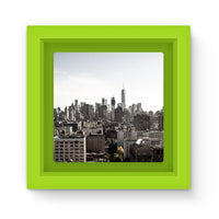 Landscape Of New York City Magnet Frame Green Homeware