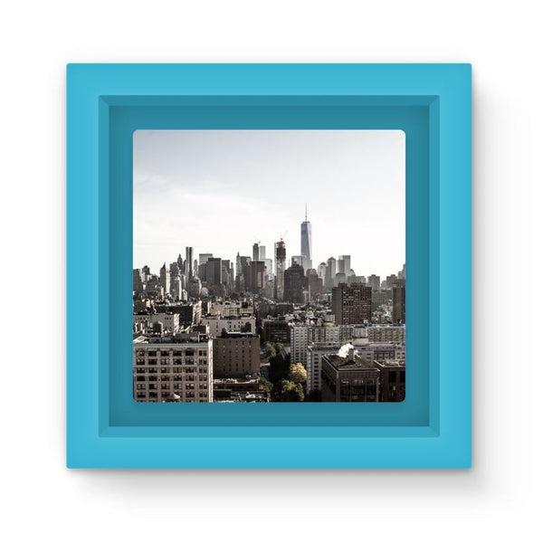 Landscape Of New York City Magnet Frame Light Blue Homeware